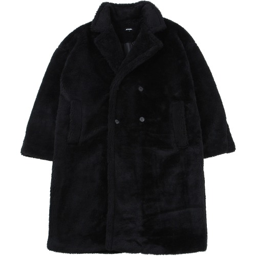 낫포너드 NOT4NERD - Essential Logo Fur Coat Black