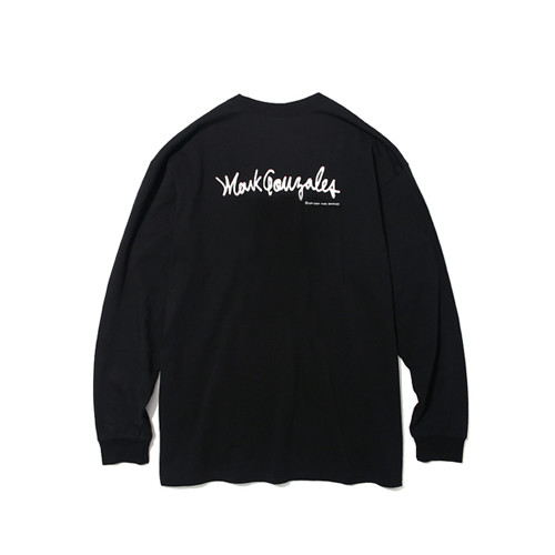 마크 곤잘레스 MARK GONZALES - M/G LOGO LONG SLEEVE TEE BLACK