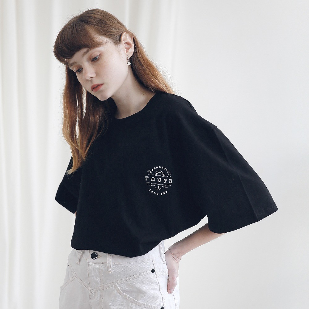 아더로브 ARDOROBE - UNISEX YOUTH CIRCLE TEE ATS191001-BK