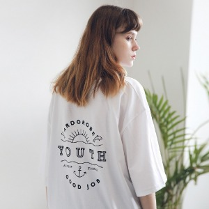 아더로브 ARDOROBE - UNISEX YOUTH CIRCLE TEE ATS191001-WT