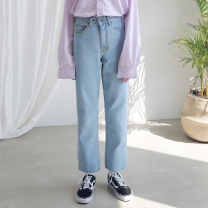 아더로브 ARDOROBE - WASHING STRAIGHT DENIM PANTS ALP191001-LB