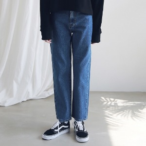 아더로브 ARDOROBE - WASHING STRAIGHT DENIM PANTS ALP191001-BL