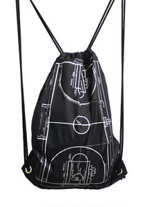 언클락와이즘 - Basketball Stadium Printing Gym Sack_black