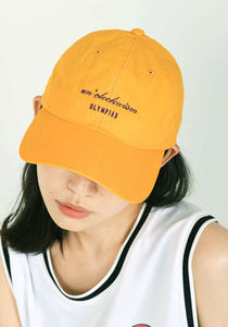 언클락와이즘 - Olympiad Logo Embroidery Cap_yellow
