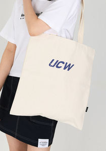 언클락와이즘 - UCW Logo Eco Bag_ivory