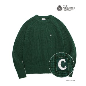 [커버낫] COVERNAT X TWC HEAVY GAUGE KNIT CREWNECK GREEN (오프라인판매)