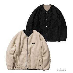 [커버낫] REVERSIBLE QUILTED FLEECE JACKET IV/BK (오프라인판매)