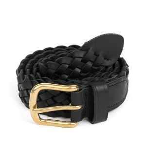 와일드브릭스 WILD BRICKS - BS WOVEN LEATHER BELT (black)