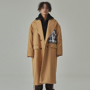 완톤 WANTON - FACE LONG COAT BEIGE