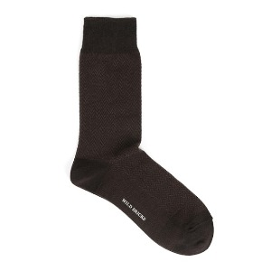 와일드브릭스 WILD BRICKS - HERRINGBONE DRESS SOCKS (brown)