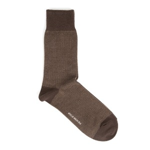 와일드브릭스 WILD BRICKS - STRIPE DRESS SOCKS (brown)
