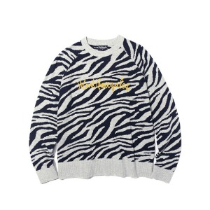 마크 곤잘레스 MARK GONZALES - M/G LOGO KNIT SWEATER ZEBRA
