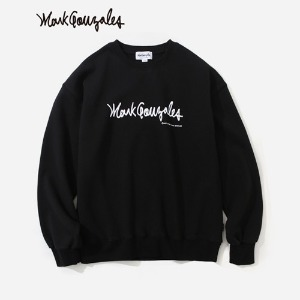 마크 곤잘레스 MARK GONZALES - M/G BIG LOGO CREWNECK BLACK