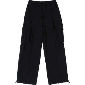 낫포너드 - NOT4NERD Wide String Cargo Slacks Pants [Black]