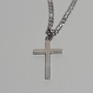 그린컨테이너 - SIMPLE CROSS NECKLACE