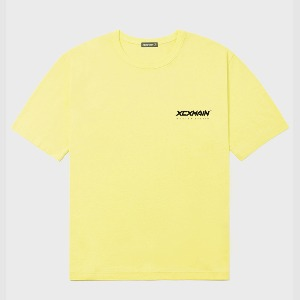 엑스씨엑스메인 XCXMAIN - YELLOW LIGHT SIGNATURE MINI LOGO PREMIUM 18수 반팔