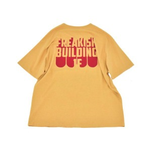 프리키쉬 빌딩 FREAKISH BUILDING - BOARDING SHORT SLEEVE TEE (YELLOW)