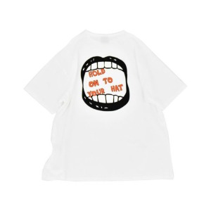 프리키쉬 빌딩 FREAKISH BUILDING - JAW SAGGED SHORT SLEEVE TEE (WHITE)