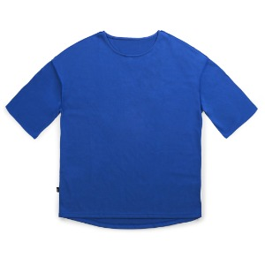 뮤닌스테이션 MUNINNSTION - REVERSE STITCH BOATNECK TEE [BLUE]