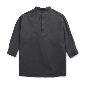 뮤닌스테이션 MUNINNSTION - SUMMARIZE A SUMMER LINEN SHIRTS [CHARCOAL]