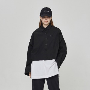 스틸어스 STEALEARTH - crop shirt black
