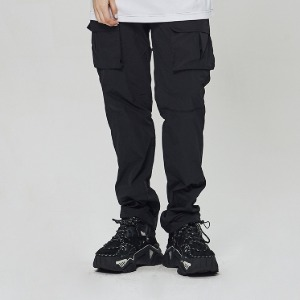 스틸어스 STEALEARTH - two pocket cargo string pants black