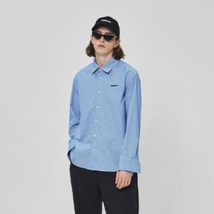스틸어스 STEALEARTH - spaceship pocket shirt blue