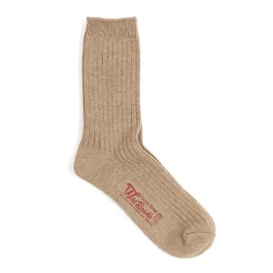 와일드브릭스 WILD BRICKS - COTTON RIB SOCKS (beige)
