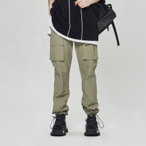 스틸어스 STEALEARTH - two pocket cargo string pants khaki