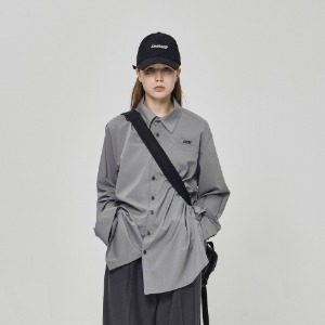 스틸어스 STEALEARTH - spaceship pocket shirt grey