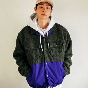 프리키쉬빌딩 - KERTRACK FLEECE JACKET (KHAKI)
