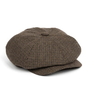와일드브릭스 WILD BRICKS - LB HOUNDSTOOTH NEWSBOY CAP (brown)