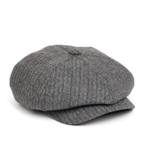 와일드브릭스 WILD BRICKS - LB HOUNDSTOOTH NEWSBOY CAP (grey)