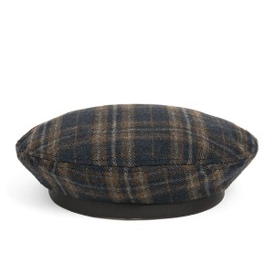와일드브릭스 WILD BRICKS - WD TARTAN CHECK FLAT BERET (navy)