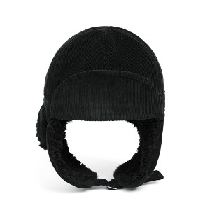 와일드브릭스 WILD BRICKS - PL CORDUROY TRAPPER HAT (black)