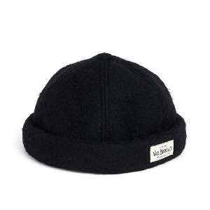 와일드브릭스 WILD BRICKS - MGL WOOL BRIMLESS CAP (black)