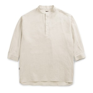 뮤닌스테이션 MUNINNSTION -  SUMMARIZE A SUMMER LINEN SHIRTS [IVORY]