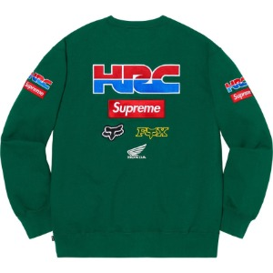 *국내배송* 19FW 슈프림 x 혼다 크루넥 Supreme X Honda Racing Crewneck Dark Green