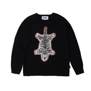 바이닉 VYNIC WOOL TIGER RUG KNIT [BLACK]
