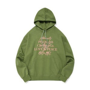 PHOS33 포스333 - Love&Peace Campaign Hoodie/Pea Green